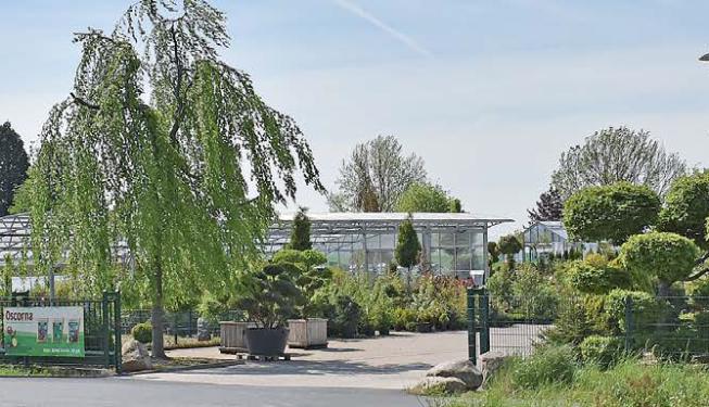 Das Gartencenter Bosse an der Schöninger Straße in Sickte.